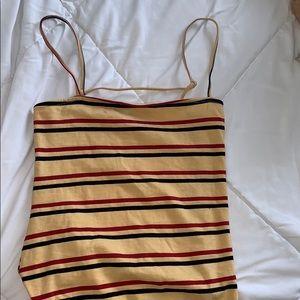 princess Polly open back striped bodysuit